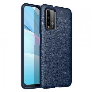 Leather Litchi силиконовый чехол накладка для Xiaomi Poco M3 - Синий