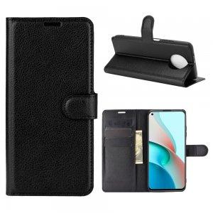 Чехол книжка для Xiaomi Redmi Note 9T отделения для карт и подставка Черный