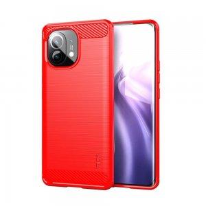 Carbon Силиконовый матовый чехол для Xiaomi Mi 11 - Красный