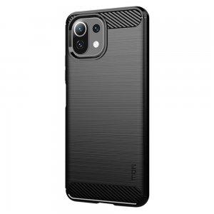 Carbon Силиконовый матовый чехол для Xiaomi Mi 11 Lite - Черный