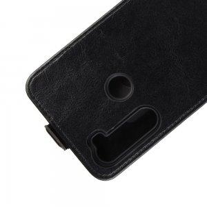 Флип чехол вертикальный для Xiaomi Redmi Note 8 - Черный