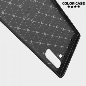 Carbon Силиконовый матовый чехол для Samsung Galaxy Note 10 - Коралловый цвет