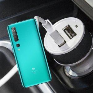 Автомобильная зарядка для Xiaomi Mi 10 / Mi 10 Pro высокой мощности 2 USB 2.1A