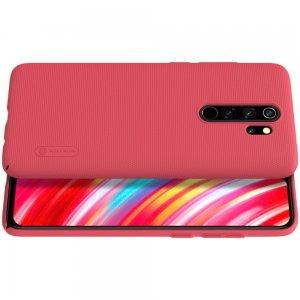 NILLKIN Super Frosted Shield Матовая Пластиковая Нескользящая Клип кейс накладка для Xiaomi Redmi Note 8 Pro - Красный