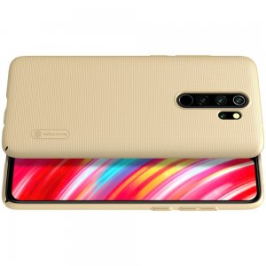 NILLKIN Super Frosted Shield Матовая Пластиковая Нескользящая Клип кейс накладка для Xiaomi Redmi Note 8 Pro - Золотой