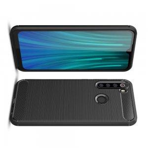 Carbon Силиконовый матовый чехол для Xiaomi Redmi Note 8 - Черный