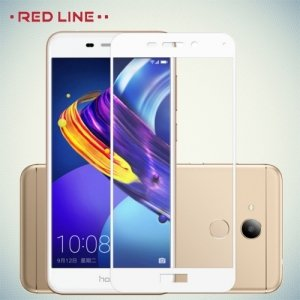 3D Защитное стекло для Huawei Honor 6C Pro - Белое Red Line