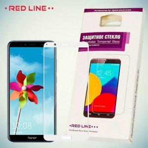 3D Защитное стекло для Huawei Honor 7A Pro / 7C - Белое Red Line
