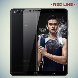 Защитное стекло для Huawei Honor 7X - Черное Red Line