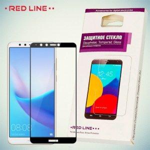 3D Защитное стекло для Huawei Y9 2018 - Черное Red Line