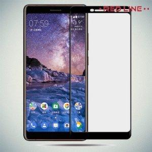 3D Защитное стекло для Nokia 7 Plus - Черный Red Line