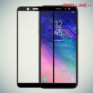 3D Защитное стекло для Samsung Galaxy A6 2018 SM-A600F - Черный Red Line