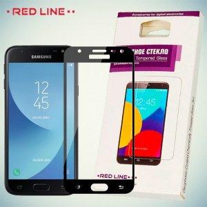 Защитное стекло для Samsung Galaxy J4 2018 SM-J400F - Черное Red Line