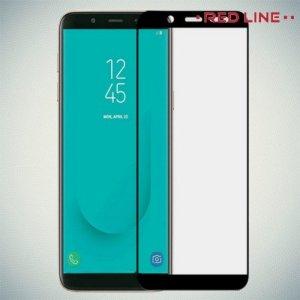 3D Защитное стекло для Samsung Galaxy J6 2018 SM-J600F - Черный Red Line