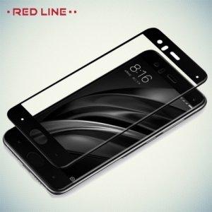 3D Защитное стекло для Xiaomi Mi 6 - Черное Red Line