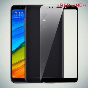 3D Защитное стекло для Xiaomi Redmi 5 Plus - Черный Red Line