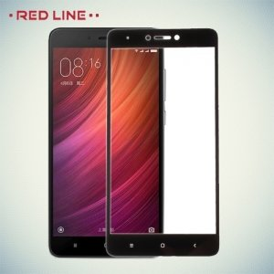 Red Line Full Glue стекло для Xiaomi Redmi Note 4X / Note 4 с полным клеевым слоем - Черная рамка