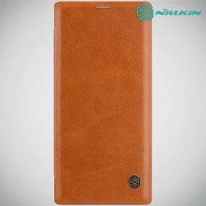 NILLKIN Qin чехол флип кейс для Samsung Galaxy Note 10 - Коричневый цвет