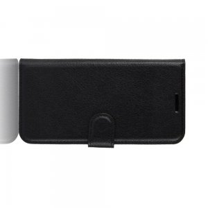 Чехол книжка кошелек с отделениями для карт и подставкой для Xiaomi Redmi 8 - Черный
