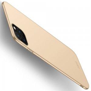 Mofi Slim Armor Матовый жесткий пластиковый чехол для iPhone 11 Pro - Золотой