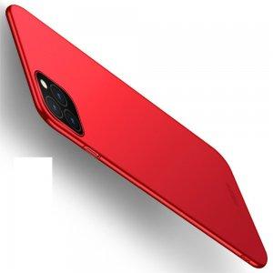 Mofi Slim Armor Матовый жесткий пластиковый чехол для iPhone 11 Pro - Красный