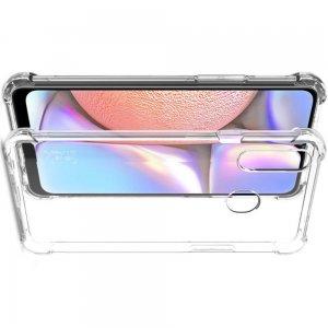 IMAK Shockproof силиконовый защитный чехол для Samsung Galaxy A20s прозрачный и защитная пленка