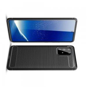 Carbon Силиконовый матовый чехол для Galaxy S10 Lite - Черный