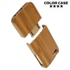 Деревянный чехол для iPhone SE