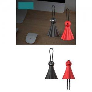 Кабель microUSB - USB привидение черное