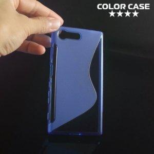 Силиконовый чехол для Sony Xperia X Compact - S-образный Синий