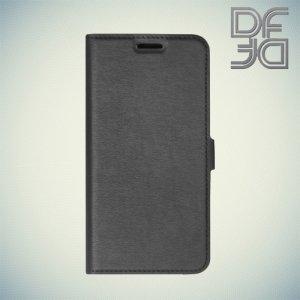 DF чехол книжка флип кейс для Samsung Galaxy A3 2016 SM-A310F - Черный