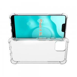 AirBags Case противоударный силиконовый чехол с усиленной защитой для Google Pixel 4 XL Прозрачный