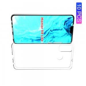 AirBags Case противоударный силиконовый чехол с усиленной защитой для Huawei Honor 9X Lite Прозрачный