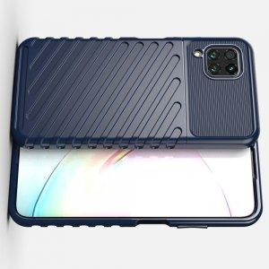 AirBags Case противоударный силиконовый чехол с усиленной защитой для Huawei P40 Lite Синий
