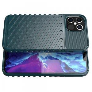 AirBags Case противоударный силиконовый чехол с усиленной защитой для iPhone 12 Pro Max 6.7 Зеленый