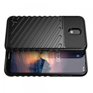 AirBags Case противоударный силиконовый чехол с усиленной защитой для Nokia 1.3 Черный