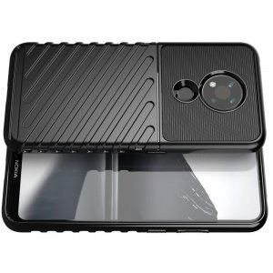 AirBags Case противоударный силиконовый чехол с усиленной защитой для Nokia 3.4 Черный