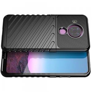 AirBags Case противоударный силиконовый чехол с усиленной защитой для Nokia 5.4 Черный