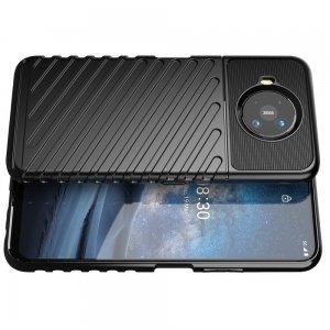 AirBags Case противоударный силиконовый чехол с усиленной защитой для Nokia 8.3 5G Черный