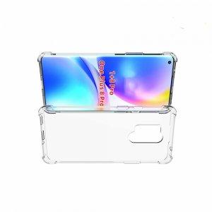 AirBags Case противоударный силиконовый чехол с усиленной защитой для OnePlus 8 Pro Прозрачный