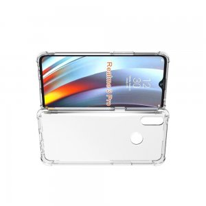 AirBags Case противоударный силиконовый чехол с усиленной защитой для Oppo Realme 3 Pro / X Lite Прозрачный