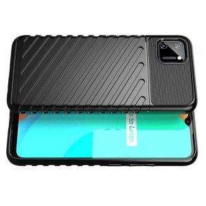 AirBags Case противоударный силиконовый чехол с усиленной защитой для Realme C11 Черный