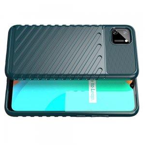 AirBags Case противоударный силиконовый чехол с усиленной защитой для Realme C11 Зеленый