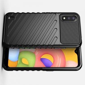 AirBags Case противоударный силиконовый чехол с усиленной защитой для Samsung Galaxy A01 Черный