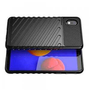 AirBags Case противоударный силиконовый чехол с усиленной защитой для Samsung Galaxy A01 Core Черный