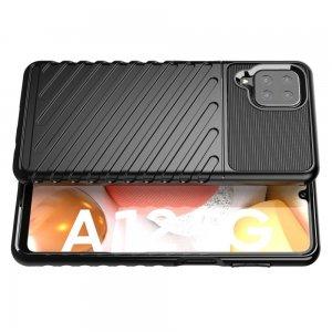 AirBags Case противоударный силиконовый чехол с усиленной защитой для Samsung Galaxy A12 Черный