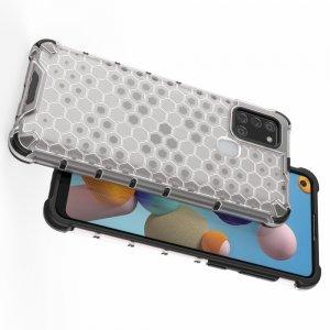 AirBags Case противоударный силиконовый чехол с усиленной защитой для Samsung Galaxy A21s Белый
