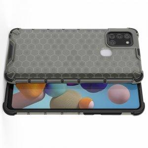 AirBags Case противоударный силиконовый чехол с усиленной защитой для Samsung Galaxy A21s Черный