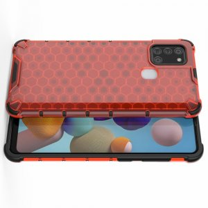 AirBags Case противоударный силиконовый чехол с усиленной защитой для Samsung Galaxy A21s Красный