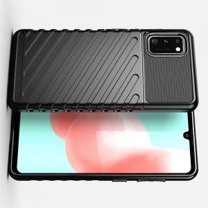AirBags Case противоударный силиконовый чехол с усиленной защитой для Samsung Galaxy A41 Черный